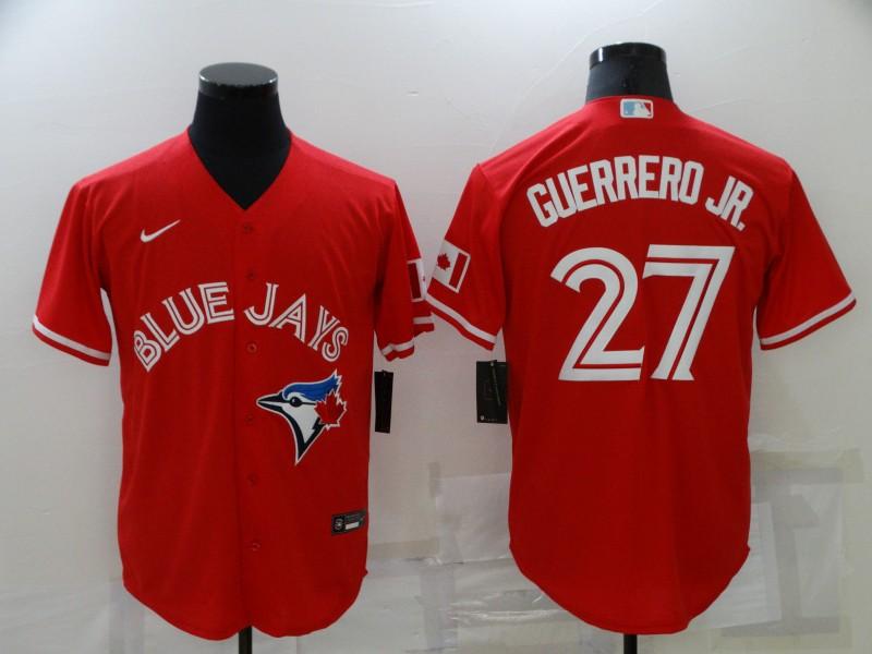 Blue Jays 27 Vladimir Guerrero Jr. Red Nike Cool Base Jersey