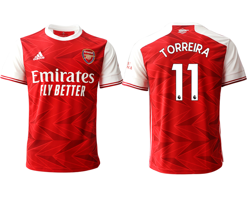 2020-21 Arsenal 11 TORREIRA Home Thailand Soccer Jersey