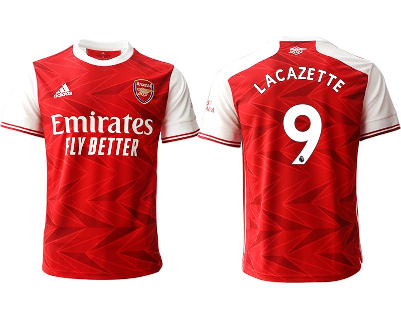 2020-21 Arsenal 9 LACAZETTE Home Thailand Soccer Jersey