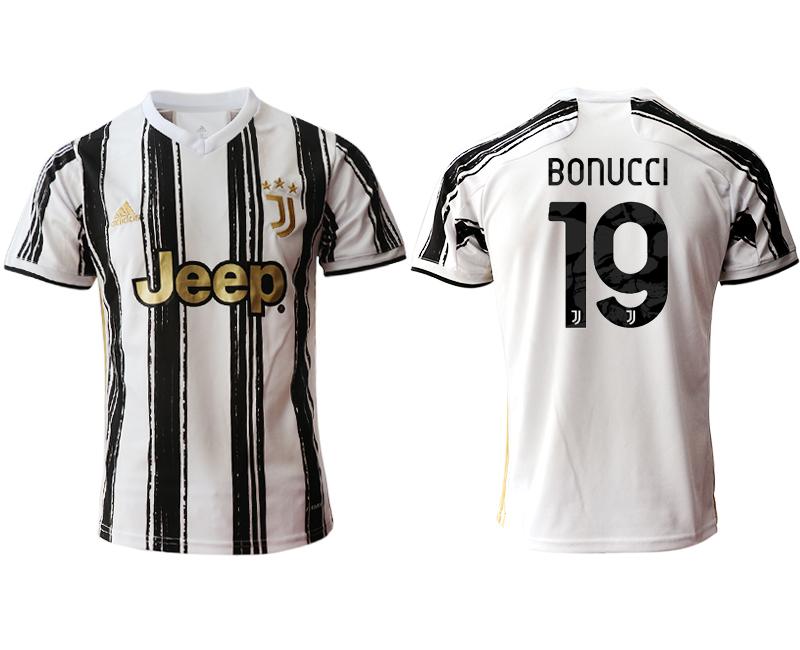 2020-21 Juventus 19 BONUCCI Home Thailand Soccer Jersey