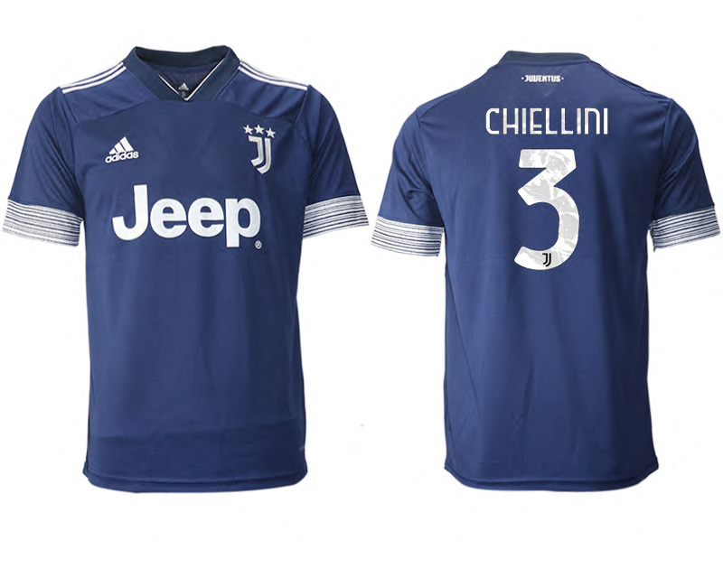 2020-21 Juventus 3 CHIELLINI Away Thailand Soccer Jersey