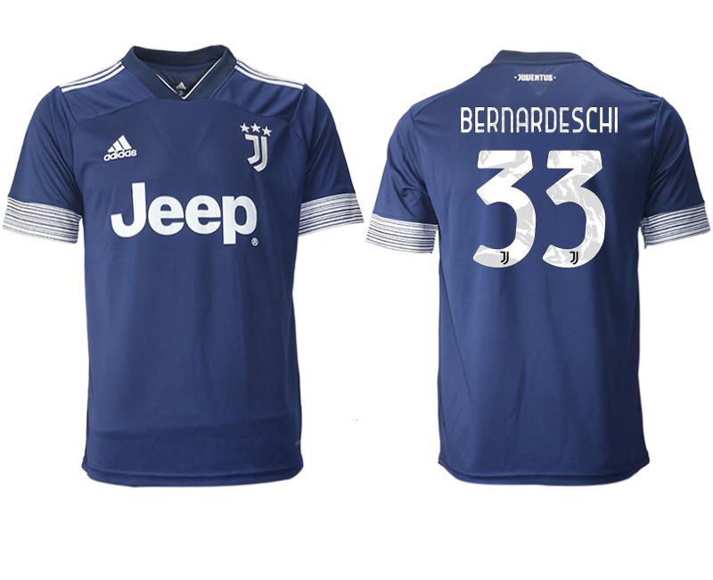 2020-21 Juventus 33 BERNARDESCHI Away Thailand Soccer Jersey