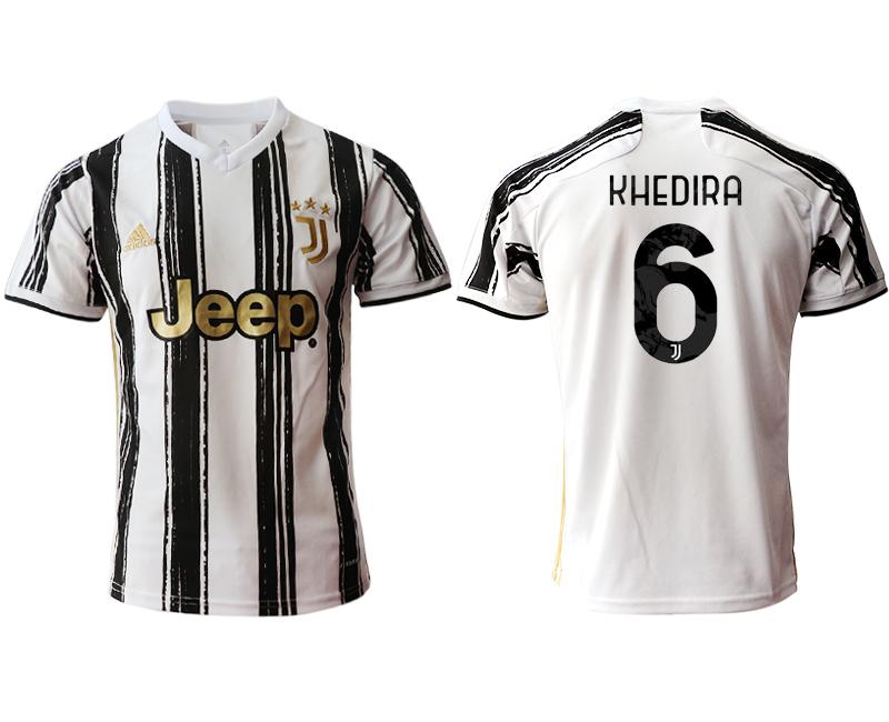 2020-21 Juventus 6 KHEDIRA Home Thailand Soccer Jersey