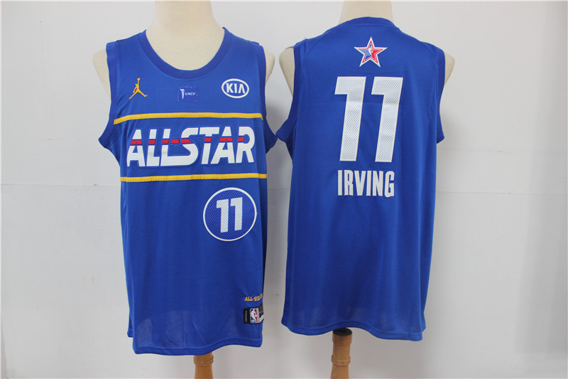 Nets 11 Kyrie Irving Blue 2021 NBA All-Star Jordan Brand Swingman Jersey