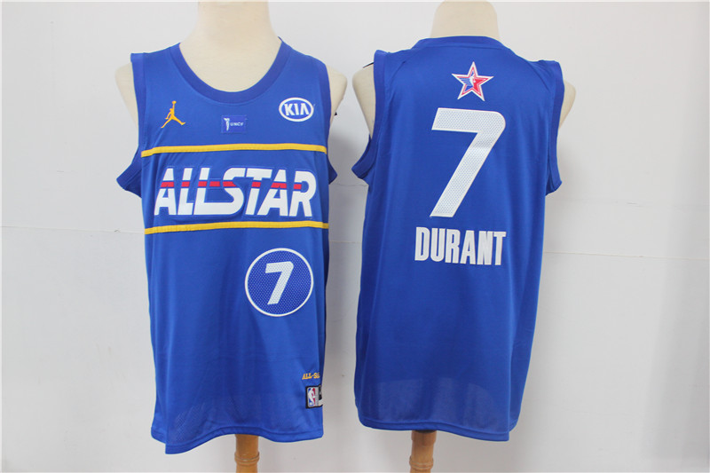 Nets 7 Kevin Durant Blue 2021 NBA All-Star Jordan Brand Swingman Jersey