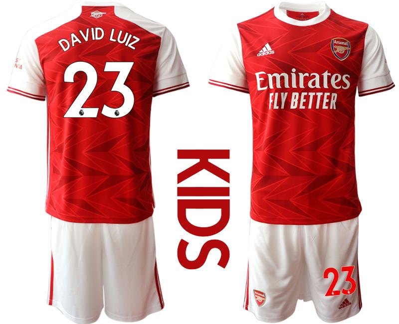 2020-21 Arsenal 23 DAVID LUIZ Youth Home Soccer Jersey