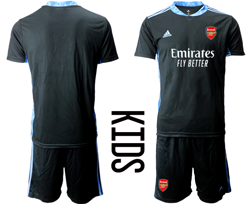 2020-21 Arsenal Black Youth Goalkeeper Soccer Jerseys