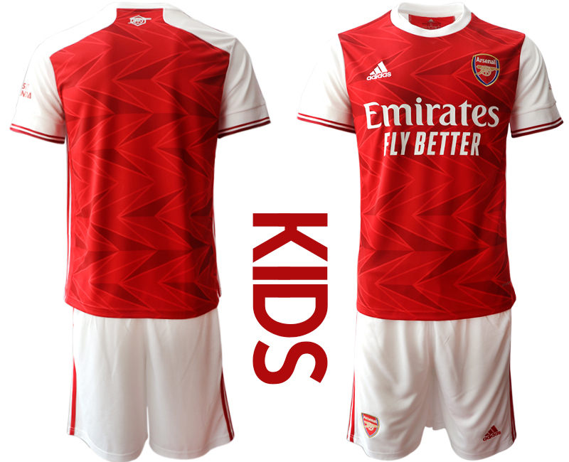 2020-21 Arsenal Youth Home Soccer Jersey