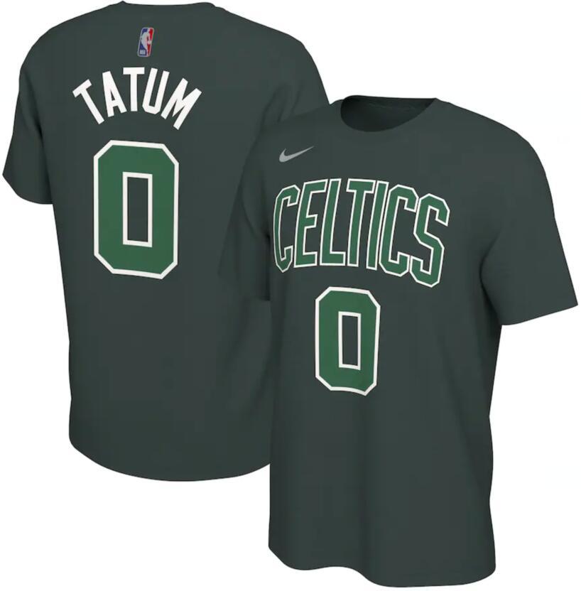 Men's Boston Celtics Jayson Tatum Nike Green 2020-21 Earned Edition Name & Number T-Shirt