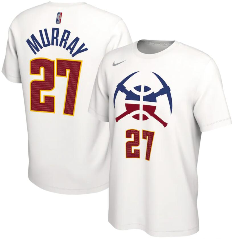 Men's Denver Nuggets Jamal Murray Nike White 2020-21 Earned Edition Name & Number T-Shirt