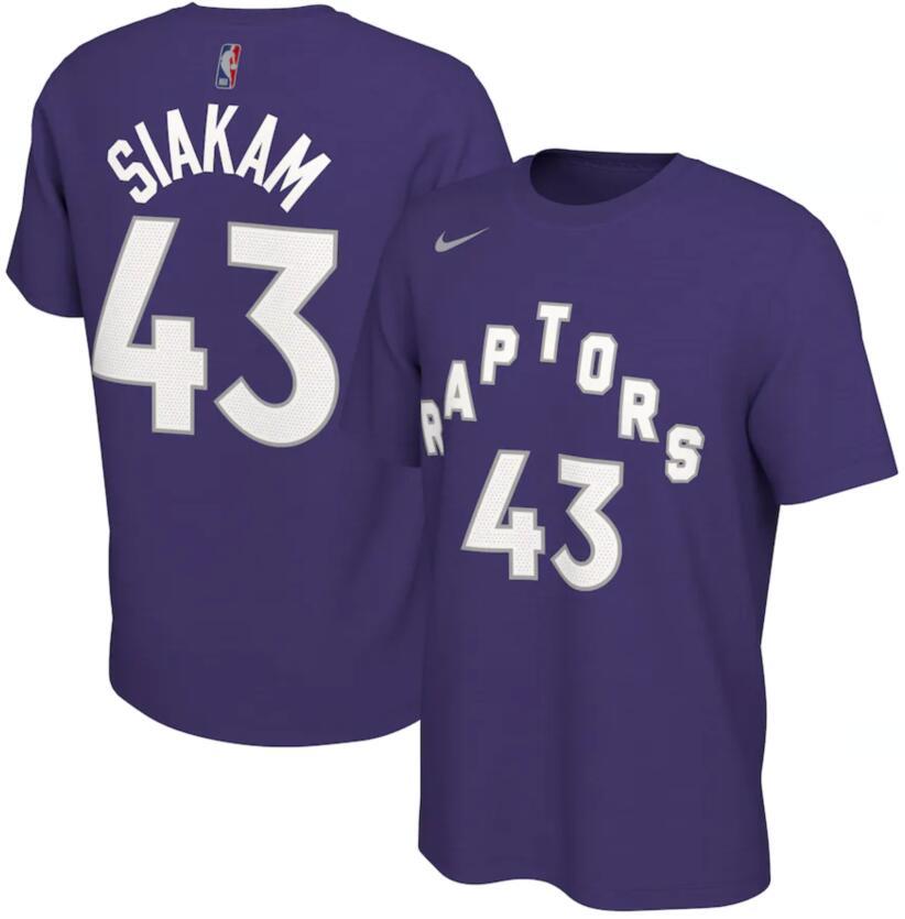 Men's Toronto Raptors Pascal Siakam Nike Purple 2020-21 Earned Edition Name & Number T-Shirt