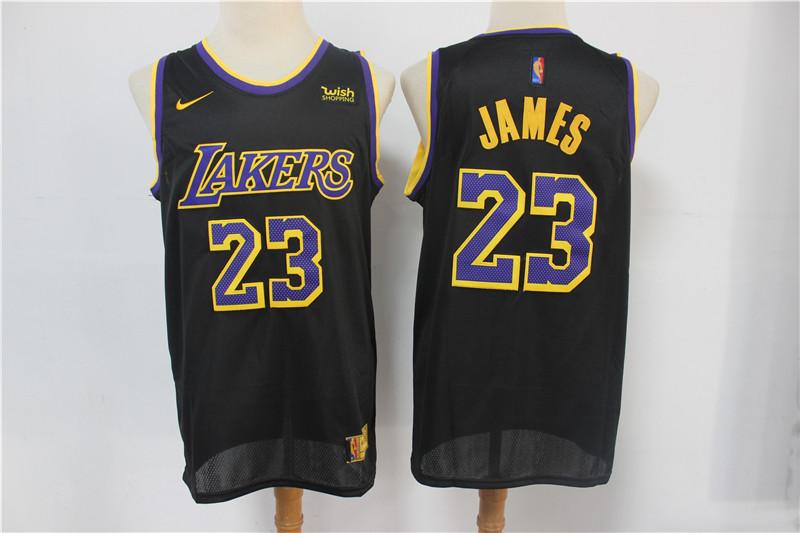 Lakers 23 Lebron James Black 2021 Earned Edition Nike Swingman Jersey