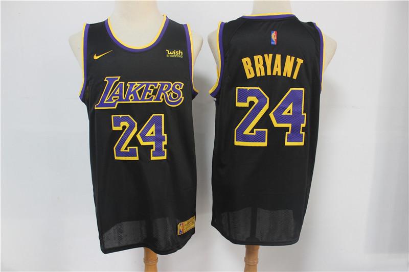 Lakers 24 Kobe Bryant Black 2021 Earned Edition Nike Swingman Jersey