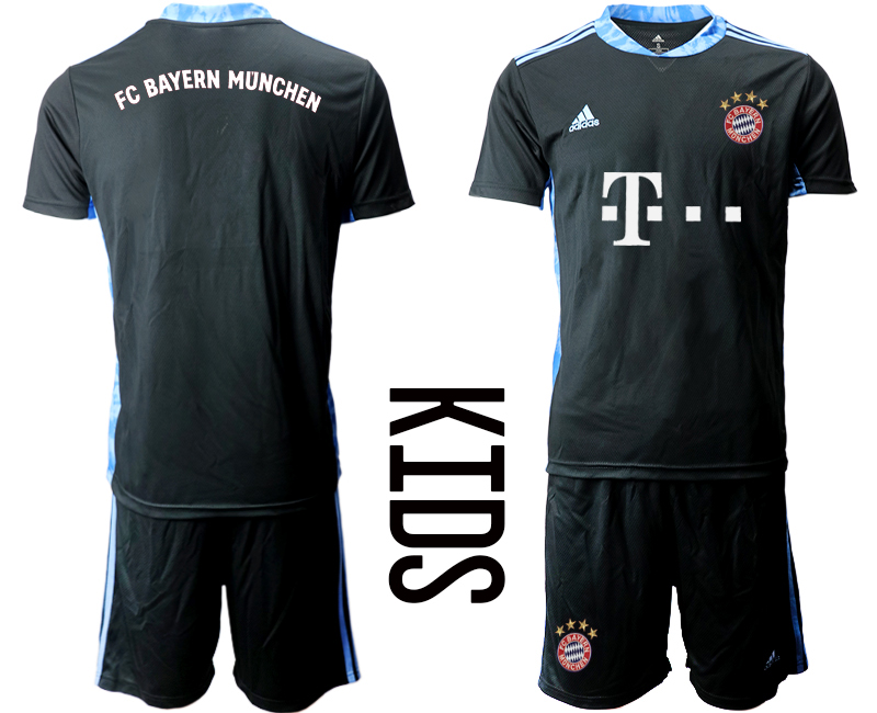 2020-21 Bayern Munich Black Youth Goalkeeper Soccer Jersey
