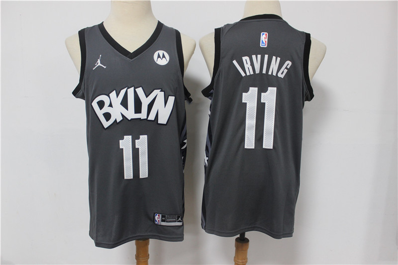 Nets 11 Kyrie Irving Dark Gray 2021 Swingman Jersey