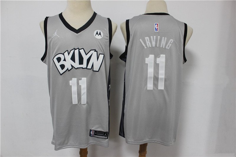 Nets 11 Kyrie Irving Gray 2021 Swingman Jersey