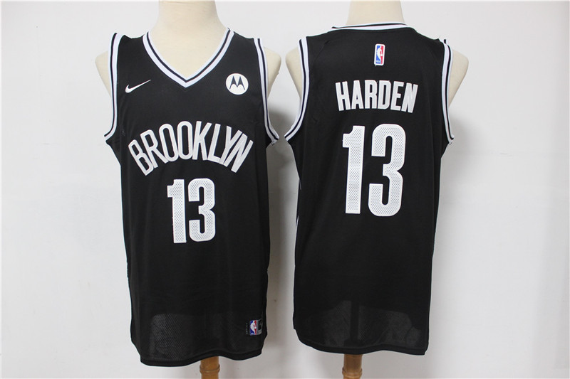 Nets 13 James Harden Black 2021 Nike Swingman Jersey