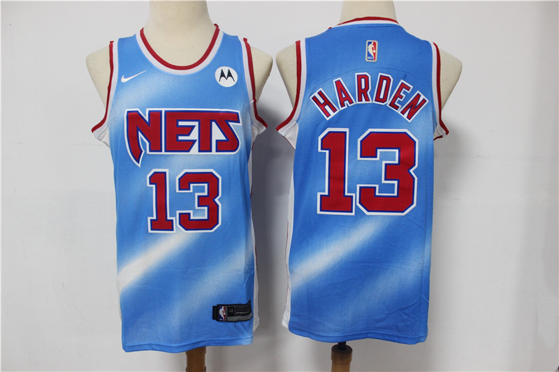 Nets 13 James Harden Blue 2021 Nike Swingman Jersey