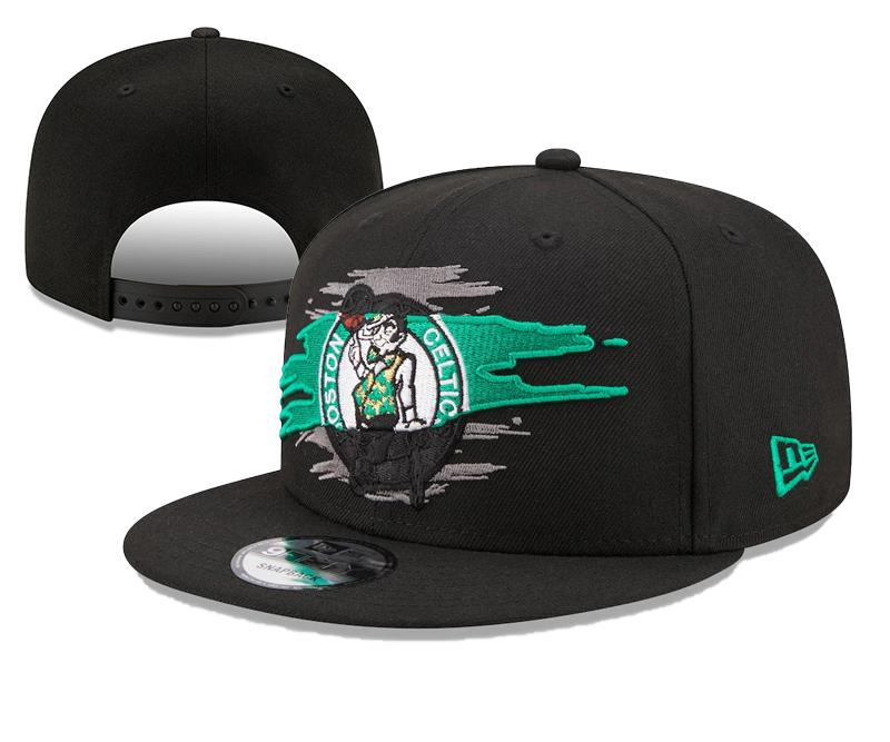 Celtics Team Logo Tear Black New Era Adjustable Hat YD