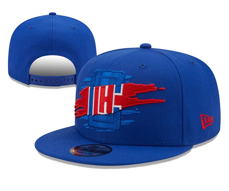 Clippers Team Logo Tear Blue New Era Adjustable Hat YD