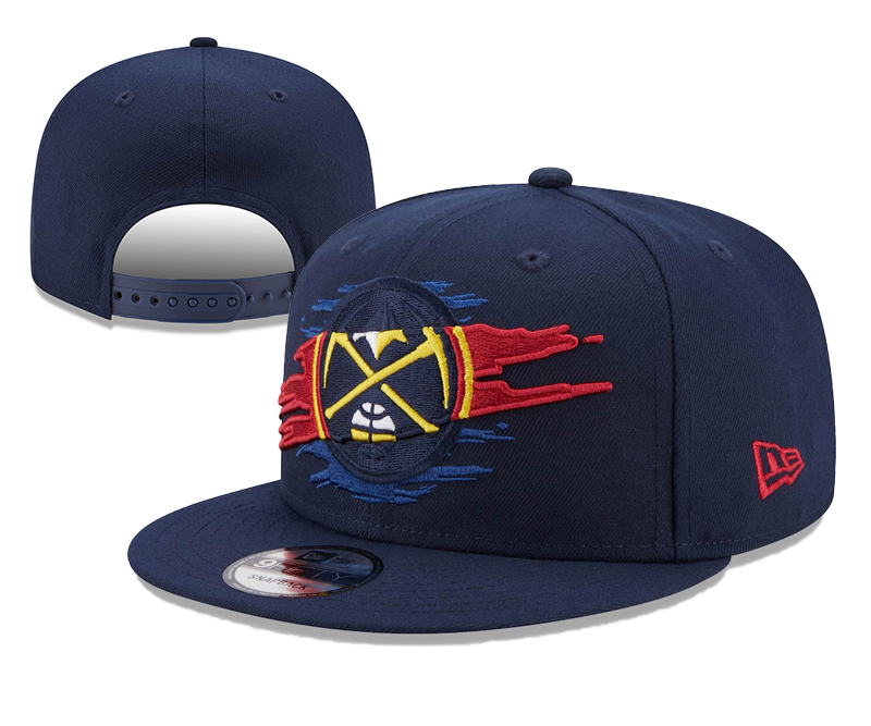 Nuggets Team Logo Tear Navy New Era Adjustable Hat YD