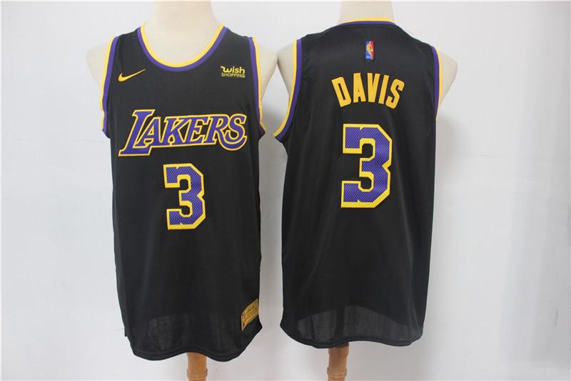 Lakers 3 Anthony Davis Black 2021 Earned Edition Swingman Jersey