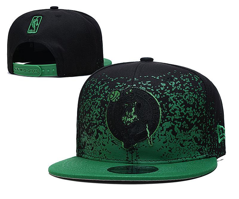 Celtics Team Logo New Era Black Green Fade Up Adjustable Hat YD