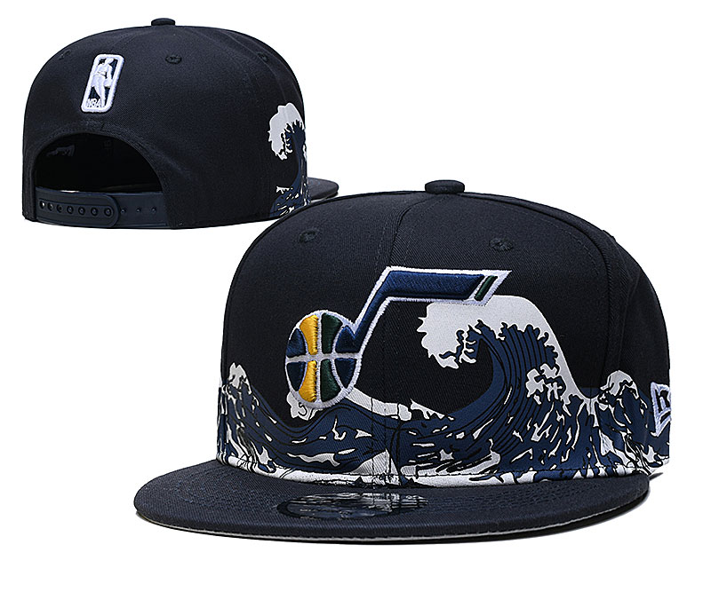 Jazz Team Logo New Era Black Adjustable Hat YD