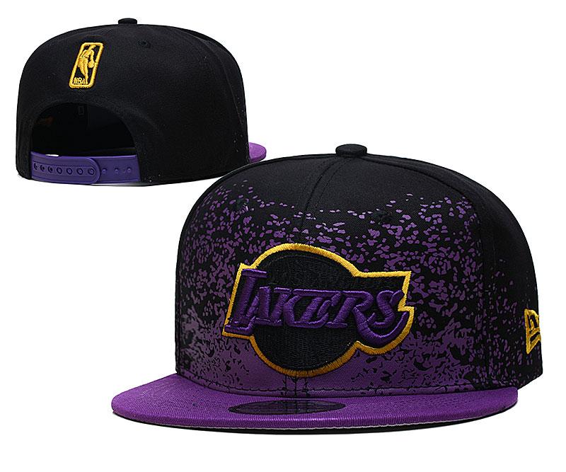 Lakers Team Logo New Era Purple Black Fade Up Adjustable Hat YD