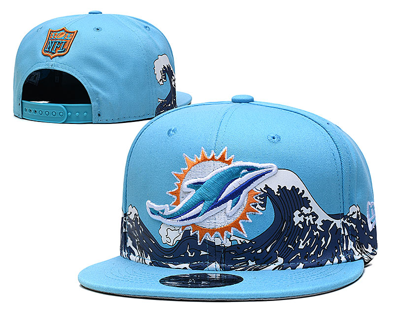 Dolphins Team Logo New Era Blue Adjustable Hat YD