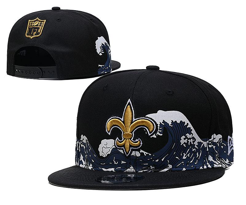 Saints Team Logo New Era Black Adjustable Hat YD