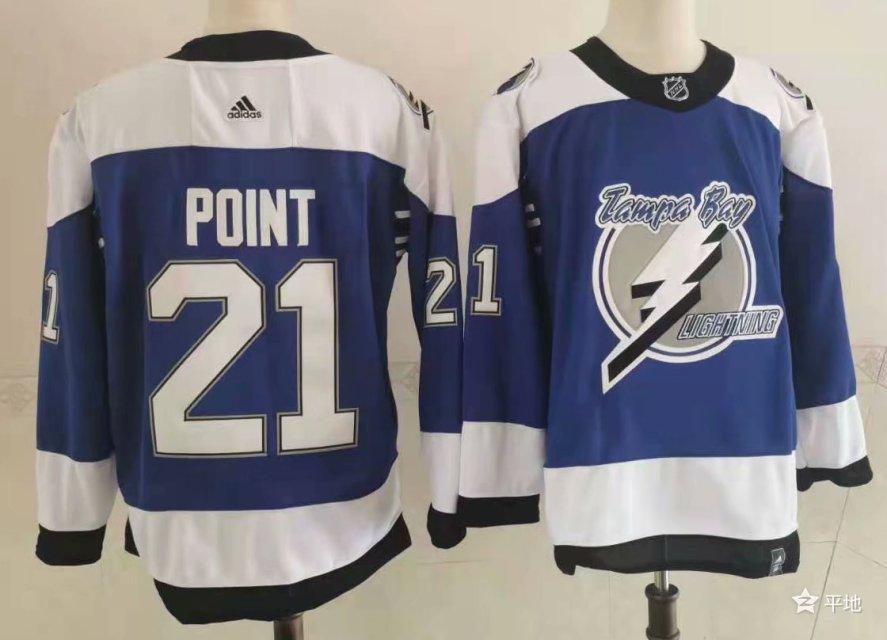 Lightning 21 Brayden Point Blue 2020-21 Reverse Retro Adidas Jersey