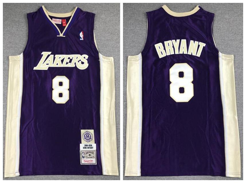 Lakers 24 Kobe Bryant Purple Hall Of Fame 1996-2016 Hardwood Classics Jersey