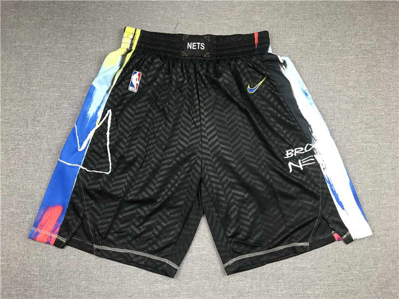 Nets Teams Black City Edition Swingman Shorts