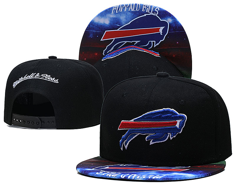 Bills Team Logo Black Mitchell & Ness Adjustable Hat LH