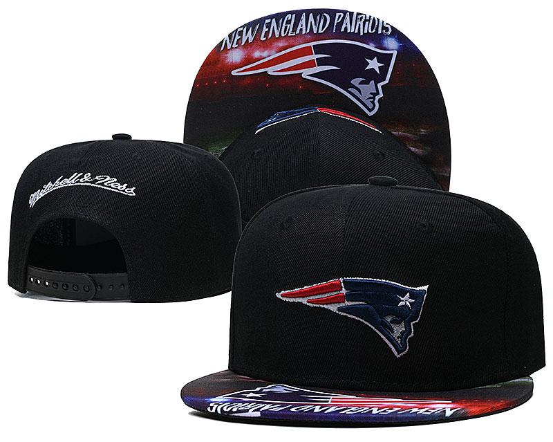 Patriots Team Logo Black Mitchell & Ness Adjustable Hat LH