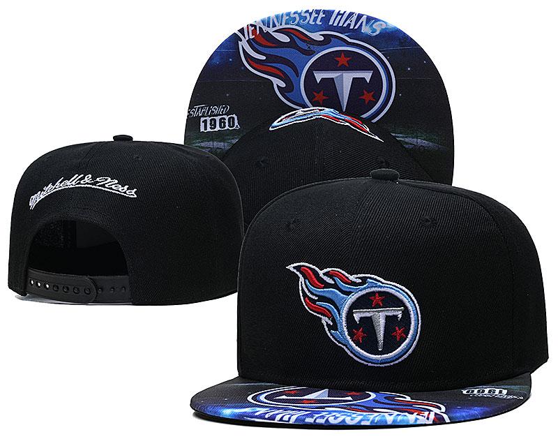 Titans Team Logo Black Mitchell & Ness Adjustable Hat LH