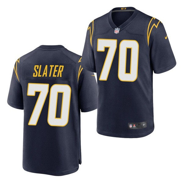 Nike Chargers 70 Rashawn Slater Navy 2021 Draft Vapor Limited Jersey