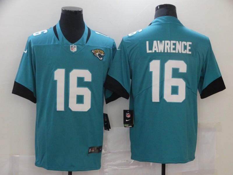 Nike Jaguars 16 Trevor Lawrence Teal 2021 Draft Vapor Limited Jersey