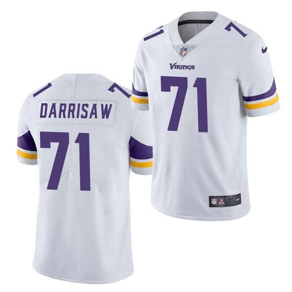 Nike Vikings 71 Christian Darrisaw White 2021 Draft Vapor Limited Jersey