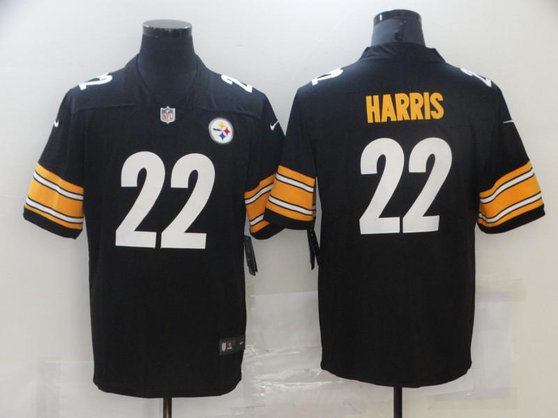 Nike Steelers 22 Najee Harris Black 2021 NFL Draft Vapor Untouchable Limited Jersey