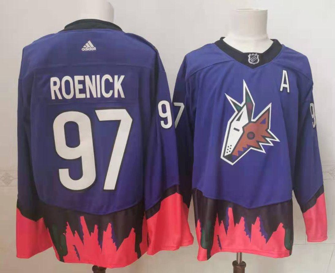 Coyotes 97 Jeremy Roenick Purple 2020 21 Reverse Retro Adidas Jersey