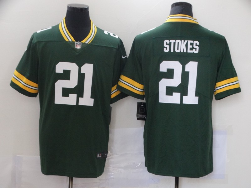 Nike Packers 21 Eric Stokes Green 2021 NFL Draft Vapor Untouchable Limited Jersey