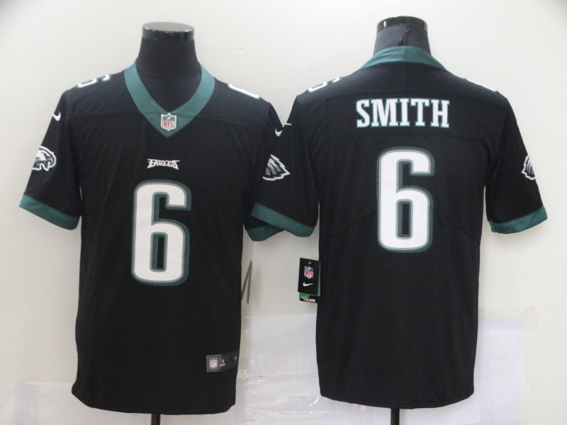 Nike Eagles 6 DeVonta Smith Black 2021 Draft Vapor Limited Jersey