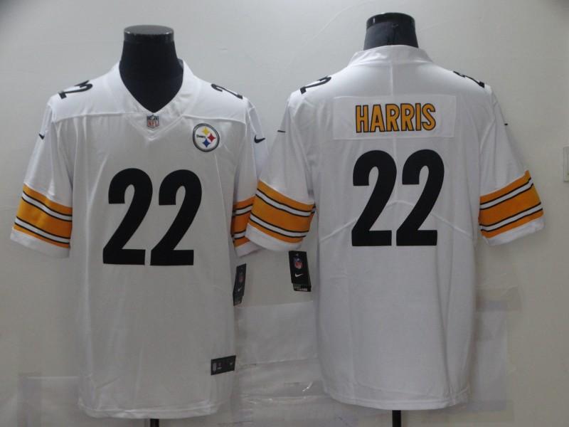 Nike Steelers 22 Najee Harris White 2021 NFL Draft Vapor Untouchable Limited Jersey
