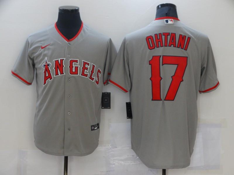Angels 17 Shohei Ohtani Gray 2020 Nike Cool Base Jersey