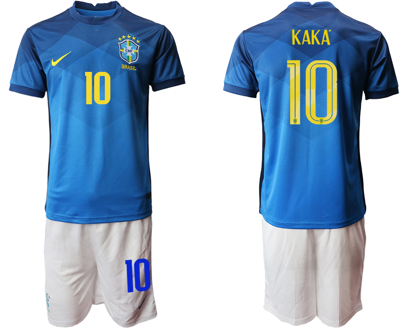 2020-21 Brazil 10 KAKA Away Soccer Jersey