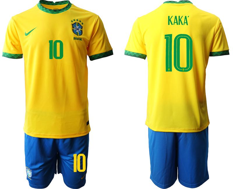 2020-21 Brazil 10 KAKA Home Soccer Jersey