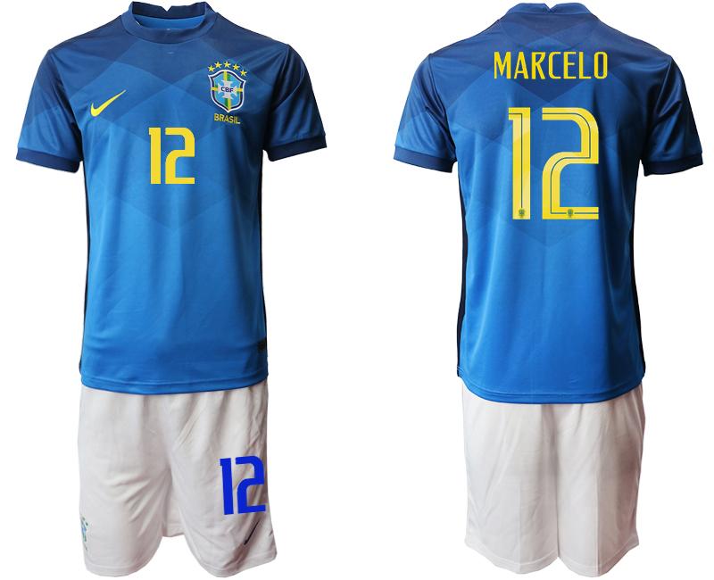 2020-21 Brazil 12 MARCELO Away Soccer Jersey