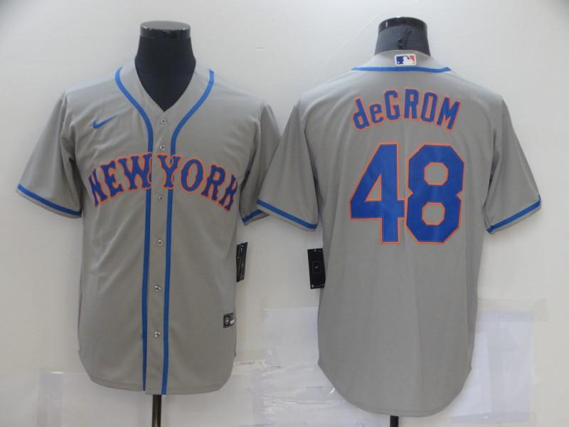 Mets 48 Jacob deGrom Gray 2020 Nike Cool Base Jersey